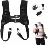 PULUZ Quick Release Double Shoulder Harness Soft Pad voor DSLR digitale camera's