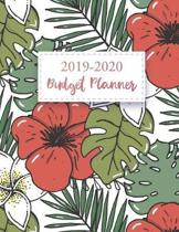 2019-2020 Budgeting Planner: Flower Cover - Personal Finance Budget Planner Academic - Daily Weekly Expense Tracker Workbook - Monthly Bill Organiz