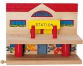 Woody treinstation voor houten treinbaan