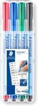 Lumocolor correctable pen F - box 4 kleuren