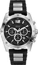 Guess Watches W0167G1 Intrepid - Horloge - Rubber - Zwart - 45 mm