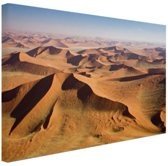 Namibie Woestijn Canvas 180x120 cm - Foto print op Canvas schilderij (Wanddecoratie)