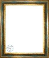 Homedecoration Bronckhorst – Massief houten fotolijst – 2 mm dik kunstglas – Fotomaat – 28x35 cm  – Goud groen