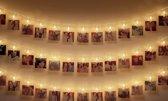 Led Lichtsnoer met Foto Clips - Warm Wit - 5 meter - 8 modus - Afstandsbediening - 50 Foto Clips - Batterijvoeding - Sfeerverlichting - Ideaal om foto's mee op te hangen