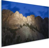 De Noord-Amerikaanse Mount Rushmore in het donker Plexiglas 120x80 cm - Foto print op Glas (Plexiglas wanddecoratie)