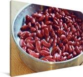 Gezonde rode nierbonen Canvas 120x80 cm - Foto print op Canvas schilderij (Wanddecoratie woonkamer / slaapkamer)
