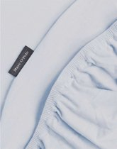 Marc O'Polo Jersey Stretch - Hoeslaken - Lits-jumeaux - 180/200x200/220 cm - Pastel blue