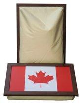 L-line by Jis Laptray, Schootkussen, Schoottafel, Laptoptafel, Dienblad met kussen Canada Vlag/Maple Leaf - 32,5x43 cm