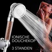 Ionische douchekop, hoge druk, waterbesparend, met 3 douchemodi
