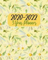2020-2022 3 Year Planner: Yellow Daisy, 36 Months Appointment Calendar, Agenda Schedule Organizer Logbook, Business Planners and Journal With Ho