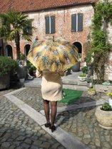 """Stevige paraplu met houten handvat, van het schilderij  """"Jardin à Vetheuil"""" van Claude Monet"""
