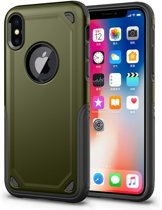 GadgetBay Shockproof Pro Armor iPhone X XS hoesje - Protection Case Green - Extra Bescherming