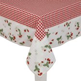 Clayre & Eef - Katoenen 100 x 100 Tafelkleed - rood - aardbei - SG01