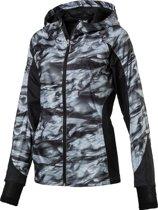 PUMA Hardloopjas LastLap Graphic Jacket W 515598 01  - Dames - Puma Black-Aop - Maat M