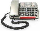 Profoon TX-560 Big Button Telefoon - Bel direct je meest dierbare en met Geluidsversterking (24dB) - Zilver