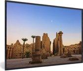 Foto in lijst - Schitterende zonsondergang bij Luxor fotolijst zwart 60x40 cm - Poster in lijst (Wanddecoratie woonkamer / slaapkamer)