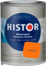 Histor Perfect Finish Muurverf Mat 1 liter - Vuurpijl