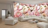 Fotobehang Vlies Bloemen | Roze | GROOT 832x254cm