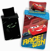 Disney Cars Glow in the Dark - Dekbedovertrek - Eenpersoons - 140 x 200 cm - Multi