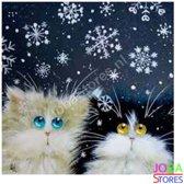 "Diamond Painting ""JobaStores®"" Crazy Cats 11 - volledig - 30x30cm"
