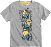 Minions T-Shirt Met Korte Mouw - Grijs - Maat 116