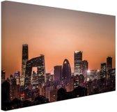 Beijing skyline foto afdruk Canvas 30x20 cm - Foto print op Canvas schilderij (Wanddecoratie)