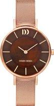 Danish Design IV68Q1167 horloge dames - rosé - edelstaal PVD rosé