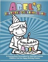Abel's Birthday Coloring Book Kids Personalized Books
