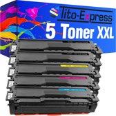 PlatinumSerie® set 5 toner XXL alternatief voor Samsung CLT-504 S black cyaan magenta yellow L
