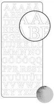 Sticker 10x23cm x10 zilver alfabet