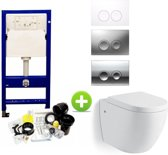 Geberit UP 100 toilet set met Hanson One-Pack Design 55 cm