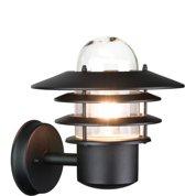 Buiten wandlamp zwart 230v - Monaco
