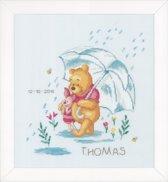 borduurpakket PN0172703 winnie the pooh, geboorte, onder de paraplu…