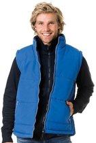 Basic bodywarmer blauw voor heren - winddichte mouwloze sport vesten S (36/48)