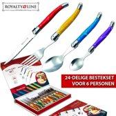 Royalty Line bestekset met kleurrijke handgrepen