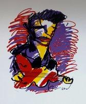 Herman Brood Schilderij Zeefdruk 'Gitarist'