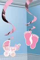 Swirl Decoration 12 x It's a Baby Girl 61 cm