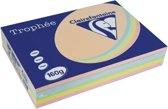Clairefontaine Trophée Pastel A4 geassorteerde kleuren 160 g 5x50 vel
