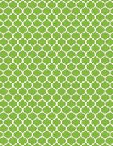 Moroccan Trellis - Lime Green 101 - Lined Notebook with Margins 8.5x11