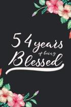 Blessed 54th Birthday Journal