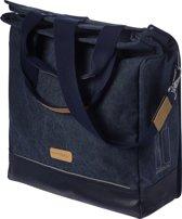 Basil Urban Fold Cross Body Bag Enkele Fietstas - 25 l - Denim Blauw