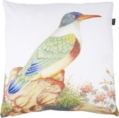 In The Mood Botanic Vogel Japan - Sierkussen - 50x50 cm - Ivoor Wit/Multi