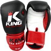 King Pro Boxing Bokshandschoenen KPB/BG 1 Zwart / Rood-16 oz.