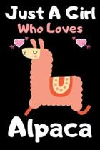 Just a girl who loves alpaca: A Super Cute alpaca notebook journal or dairy - alpaca lovers gift for girls - alpaca lovers Lined Notebook Journal (6