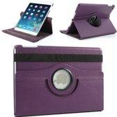 iPad Air 1 360 Graden Draaibaar Hoesje Case Leren Hoes Cover - Paars