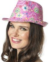 Gangster hoed bloem roze