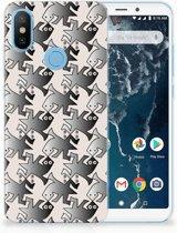 Xiaomi Mi A2 Uniek TPU Hoesje Salamander Grey