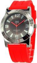 Q&Q quartz sportief horloge| rood unisex horloge