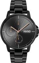 HUGO HU1530127 #FOCUS - Polshorloge - Staal - Zwart -   Ø 42 mm