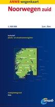 ANWB wegenkaart - Noorwegen Zuid